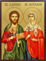 Икони на Св. Адриан и Наталия